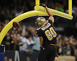 New Orleans Saints Jimmy Graham scores a touchdown vs. New York Giants at the Superdome in New Orleans, La. on Monday, November 28, 2011. New Orleans won 49-24.