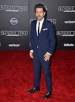Actor Diego Luna at the world premiere of &quot;Rogue One: A Star Wars Story&quot; at The Pantages Theatre, Hollywood. <br /> December 10, 2016<br /> Picture: Paul Smith/Featureflash/SilverHub 0208 004 5359/ 07711 972644 Editors@silverhubmedia.com
