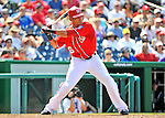 10 July 2011: Washington Nationals shortstop Ian Desmond in action against the Colorado Rockies at Nationals Park in Washington, District of Columbia. The Nationals shut out the visiting Rockies 2-0 salvaging the last game their 3-game series at home prior to the All-Star break. Mandatory Credit: Ed Wolfstein Photo