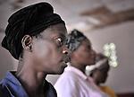 Women worship in a United Methodist church in Kananga, DR Congo.