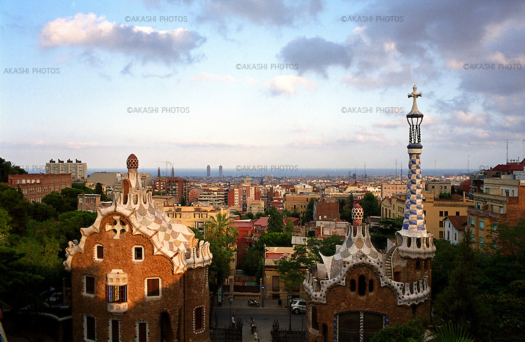 Park Guell, Gaudi's Park, in Barcelona, Spain...July 23, 2003