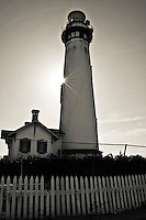 Pigeon Point Lighthouse on the California coast south of San Francisco.