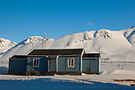 Small house at the international scientific research base of Ny Alesund, Svalbard.