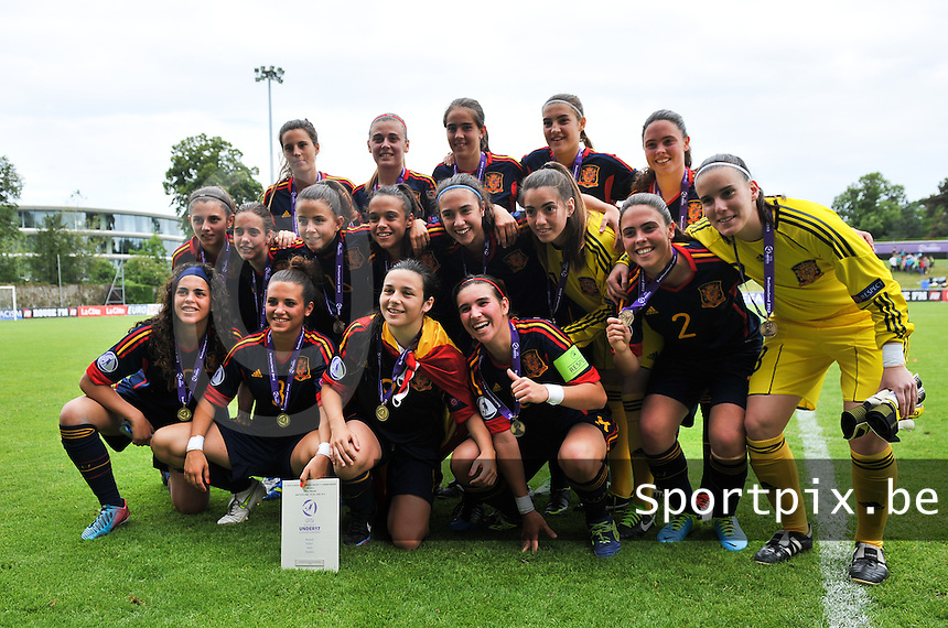 Belgium - Spain : team Spanje overgelukkig met de 3de plaats<br /> foto David Catry / Nikonpro.be