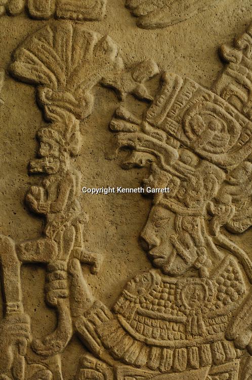 Maya Rise and Fall; Mexico City; National Museum of Anthropology and History; INAH; Yaxchilan;  Lintel 53; Dance Ritul;  Mayan; Maya; Ancient Cultures, artifact; Manikin Scepter