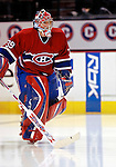 3 February 2007: Montreal Canadiens goaltender Cristobal Huet of France takes to the ice prior to facing the New York Islanders at the Bell Centre in Montreal, Canada. The Islanders defeated the Canadiens 4-2.Mandatory Photo Credit: Ed Wolfstein Photo *** Editorial Sales through Icon Sports Media *** www.iconsportsmedia.com