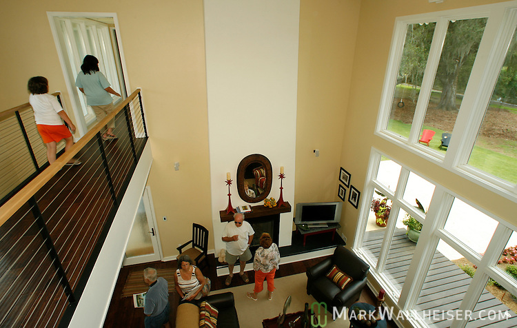 The living room overlooking the lake at the southern living magazine