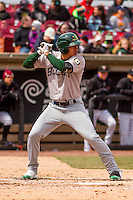 Beloit Snappers infielder Edwin Diaz (12) at bat during a Midwest League game against the Wisconsin Timber Rattlers on April 10th, 2016 at Fox Cities Stadium in Appleton, Wisconsin.  Wisconsin defeated Beloit  4-2. (Brad Krause/Four Seam Images)