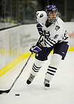 30 December 2007: Holy Cross Crusaders' defenseman Brian Gabriel, a Senior from Kenai, Alaska, in action against the Western Michigan University Broncos at Gutterson Fieldhouse in Burlington, Vermont. The teams skated to a 1-1 tie, however the Broncos took the consolation game in a 2-0 shootout to win the third game of the Sheraton/TD Banknorth Catamount Cup Tournament...Mandatory Photo Credit: Ed Wolfstein Photo