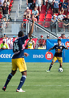 July 20, 2013: New York Red Bulls forward Thierry Henry #14 calls for a ball from New York Red Bulls defender Kosuke Kimura #27 during a game between Toronto FC and the New York Red Bulls at BMO Field in Toronto, Ontario Canada.<br /> The game ended in a 0-0 draw.