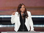 Lynne Patton, The Eric Trump Foundation, makes remarks at the 2016 Republican National Convention held at the Quicken Loans Arena in Cleveland, Ohio on Wednesday, July 20, 2016.<br /> Credit: Ron Sachs / CNP<br /> (RESTRICTION: NO New York or New Jersey Newspapers or newspapers within a 75 mile radius of New York City)