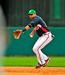 17 March 2009: Atlanta Braves' infielder Martin Prado in action during a Spring Training game against the New York Mets at Disney's Wide World of Sports in Orlando, Florida. The Braves defeated the Mets 5-1 in the Saint Patrick's Day Grapefruit League matchup. Mandatory Photo Credit: Ed Wolfstein Photo