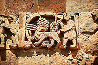 Bas Releif sculptures with scenes from the Bible on the outside of the 10th century Armenian Orthodox Cathedral of the Holy Cross on Akdamar Island, Lake Van Turkey 35