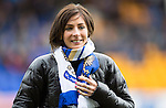 St Johnstone v Hibs...22.03.14    SPFL<br /> Olympic bronze medallists Eve Muirhead<br /> Picture by Graeme Hart.<br /> Copyright Perthshire Picture Agency<br /> Tel: 01738 623350  Mobile: 07990 594431
