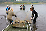 Earthwatch Team Setting Nets