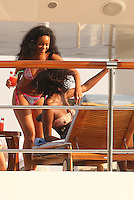 Rihanna Partying on her yacht - France