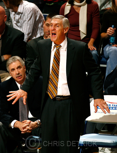 Salt Lake City,UT--12/11/06-9:01:51 PM--&amp;#xA;&amp;#xA;Utah Jazz coach Jerry Sloan on the sidelines during the game.&amp;#xA;Jazz won 101-79 and game Sloan his 1,000th career victory.&amp;#xA;&amp;#xA;*****************&amp;#xA;Jazz v Mavericks  &amp;#xA;&amp;#xA; Chris Detrick/Salt Lake Tribune&amp;#xA;File #_1CD7961&amp;#xA;&amp;#xA;<br />