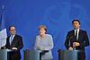 june 27-16, German Chancellor Merkel, French President Hollande,Italian Prime Minister  Renzi meet t
