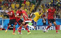 Neymar is felled in the Penalty Area