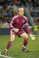Jimmy Nielsen goalkeeper Sporting KC..Sporting Kansas City defeated Seattle Sounders on penalty kicks, after a 1-1 tied game to win the Lamar Hunt Open Cup at LIVESTRONG Sporting Park, Kansas City, Kansas..