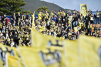 Action from the A League - Wellington Phoenix v Adelaide United at Hutt Recreational Ground, Lower Hutt, New Zealand on Saturday 7 March 2015. <br /> Photo by Masanori Udagawa. <br /> www.photowellington.photoshelter.com.