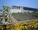 AA00410-02...FRANCE Chateau Villandry surrounded by landscaped English gardens.