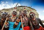 Samburu tribesmen, Kenya