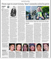 """Japam Times Community section. Portrait image of Catherine """"Jane"""" Fisher (top image) July 15th 2014"""