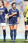 20 October 2013: Virginia's Danielle Colaprico. The University of North Carolina Tar Heels hosted the University of Virginia Cavaliers at Fetzer Field in Chapel Hill, NC in a 2013 NCAA Division I Women's Soccer match. Virginia won the game 2-0.
