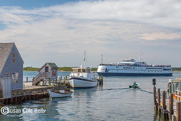 Ferry terminal, Woods Hole, Falmouth, Cape Cod, Massachusetts, USA