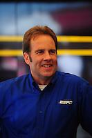 May 6, 2012; Commerce, GA, USA: ESPN announcer Mike Dunn during the NHRA Southern Nationals at Atlanta Dragway. Mandatory Credit: Mark J. Rebilas-