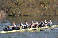 003 ELI.8+ Upper Thames RC ..Reading University Boat Club Head of the River 2012. Eights only. 4.6Km downstream on the Thames form Dreadnaught Reach and Pipers Island, Reading. Saturday 25 February 2012.