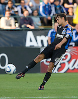 Chris Wondolowski of the Earthquakes in action during the game against the Crew at Buck Shaw Stadium in Santa Clara, California on June 2nd, 2010.  San Jose Earthquakes tied Columbus Crew, 2-2.