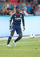 12 September 2012: Chicago Fire forward Dominic Oduro #8 in action during an MLS game between the Chicago Fire and Toronto FC at BMO Field in Toronto, Ontario..The Chicago Fire won 2-1..