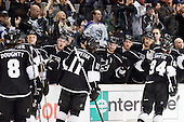 Team Los Angeles Kings celebrate goal during ice-hockey match between Los Angeles Kings and Phoenix Coyotes in NHL league, March 3, 2011 at Staples Center, Los Angeles, USA. (Photo By Matic Klansek Velej / Sportida.com)