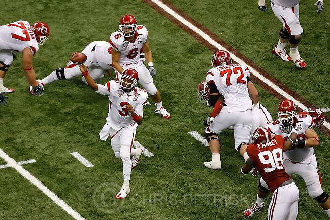 as the Utes face Alabama in the 3rd quarter of 75th annual Sugar Bowl in New Orleans, Friday, January 2, 2009...Chris Detrick/The Salt Lake Tribune