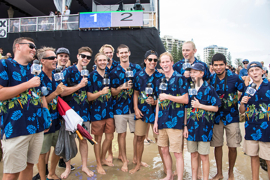 COOLANGATTA, Queensland/AUS (Sunday, March 19, 2017) ' 'The Striders' a group of Aussies imitating surf commentator  Strider Wasilewski (USA) - The Quiksilver and Roxy Pro Gold Coast was called ON today in three - to - four foot (1 m) surf at Snapper Rocks. The event got underway at 7:05 a.m. with the Men's Quarterfinals followed by the Women's Quarterfinals and ran through to the finals with Owen Wright (AUS) posting a victory with his first event back from injury and Stephanie Gilmore (AUS) adding another Roxy Pro title to her name. Wright defeated defending event champion Matt Wilkinson(AUS) in an all goofy-foot final while Lakey Peterson (USA) was runner up to Gilmore.   Photo: joliphotos.com