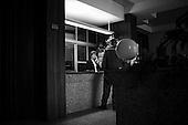 Szczecin 12 February 2009 Poland.<br /> The Szczecin Shipyard<br /> The Polish shipyard industry is in a deep crisis. The Gdansk and Szczecin shipyards are under the threat of liquidation. The battle between the Polish government, creditors and European Union rages on. Shipyard workers live under intense pressure of dissmissals. They are completely unsure of their future; they leave, search for work in England, Irland, Norway. During last two months over 25 % of workers left the Szczecin shipyard. The trade union Solidarnosc, with its cradle shipyard in Gdansk fought for free Poland 27 years ago. Today it fights for the survival of the shipyard.It organizes manifestations and pickets. In the 70's and 80's nearly 20 thousand people worked in the shipyard. Today only 3 thousand are left and a ghost feeling of emptiness in most of the shipyard's sectors.<br /> ( &copy; Filip Cwik / Napo Images for Newsweek Poland )<br /> <br /> Szczecin 12 luty 2009 Polska.<br /> Polski przemysl stoczniowy pograzony jest w glebokim kryzysie. Stoczniom z Gdanska i Szczecina grozi likwidacja. Gra sie toczy pomiedzy Polskim rzadem, wierzycielami a Unia Europejska. Stoczniowcom groza zwolnienia grupowe. Nie sa pewni przyszlosci; odchodza, wyjezdzaja do Anglii, Irlandii, Norwegii. W ciagu dwoch miesiecy ze stoczni Szczecinskiej zwolnilo sie 25% pracownikow. Zwiazek zawodowy Solidarnosc, ktorej kolebka jest zaklad w Gdansku 27 lat temu walczyl o wolna Polske, dzis walczy o utrzymanie zakladu pracy. Organizuje protesty manifestacje i pikiety.<br /> ( &copy; Filip Cwik / Napo Images dla Newsweek Polska )