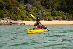 New Zealand, South Island: Kayaking from Kaiteriteri along the Abel Tasman National Park coast. Photo copyright Lee Foster. Photo # newzealand125041