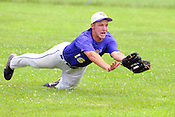 Cudahy High School right fielder Ryan Meyer hustles and catches a flyball in the first inning agains Franklin High School during a WIAA playoff game at Sheridan Park in Cudahy on Saturday, July 24, 2010. Ernie Mastroianni photo.