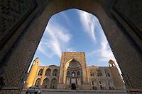 Uzbekistan, Bukhara. Abdul Aziz Khan Medressa.
