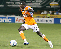 Dominic Oduro #23 of the Houston Dynamo during an MLS match against D.C. United at RFK Stadium in Washington D.C. on September  25 2010. Houston won 3-1.
