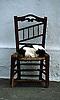 cat sleeps on chair<br /> <br /> gato dormiendo en una silla<br /> <br /> Katze schl&auml;ft auf Stuhl<br /> <br /> Original: 35 mm slide transparency