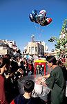 Israel, Haifa. The Three Holidays Festival in Wadi Nisnas, celebrating Christmas Hanukkah and Ramadan