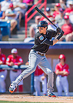7 March 2016: Miami Marlins outfielder Christian Yelich at bat in the first inning during a Spring Training pre-season game against the Washington Nationals at Space Coast Stadium in Viera, Florida. The Nationals defeated the Marlins 7-4 in Grapefruit League play. Mandatory Credit: Ed Wolfstein Photo *** RAW (NEF) Image File Available ***