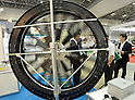 May 30, 2012, Tokyo, Japan - A wind turbine is on display at the Smart Grid Exhibition 2012 began in Tokyo on Wednesday, May 30, 2012.  (Photo by Natsuki Sakai/AFLO) AYF -mis-