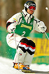 15 January 2005 - Lake Placid, New York, USA - Travis Mayer representing the USA, competes in the FIS World Cup Men's Moguls Freestyle ski competition, ranking first for the day, taking the Gold Medal at Whiteface Mountain, Lake Placid, NY. ..Mandatory Credit: Ed Wolfstein Photo.