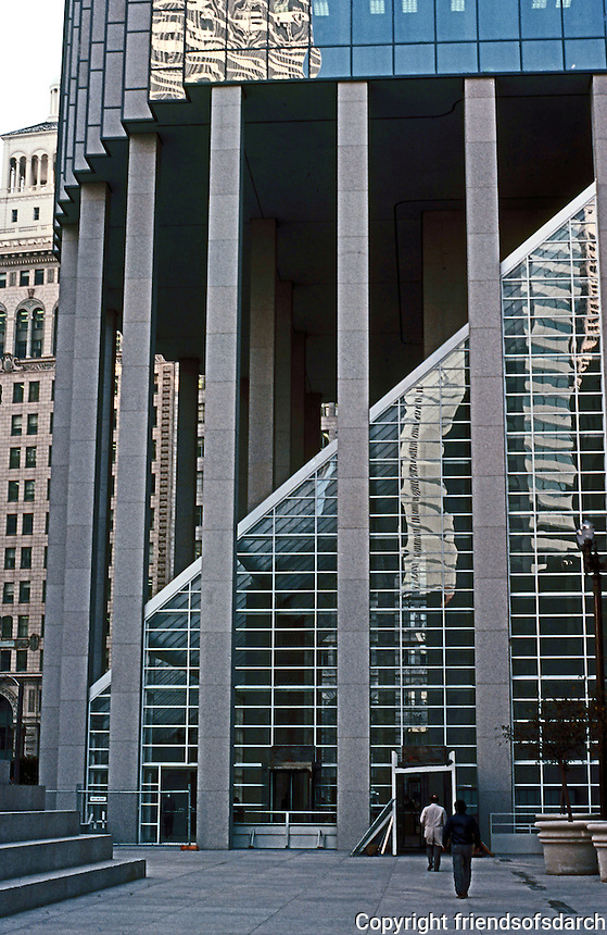 Philip Johnson: 101 California St., San Francisco 1983.  Photo '83.