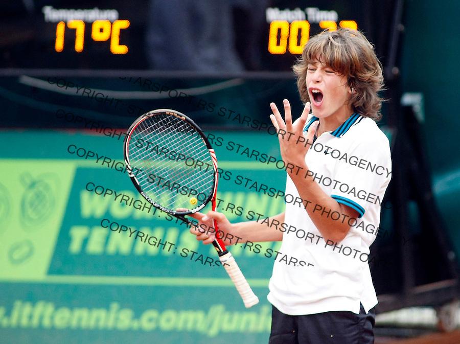 Tenis, World Championship U-14.Gianluigi Quinzi Vs. Bastian Malla, boys final.Gianluigi Quinzi, react.Prostejov, 07.08.2010..foto: Srdjan Stevanovic/Starsportphoto ©