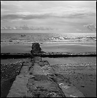 Sea Wall, Devon | Black and White Photography